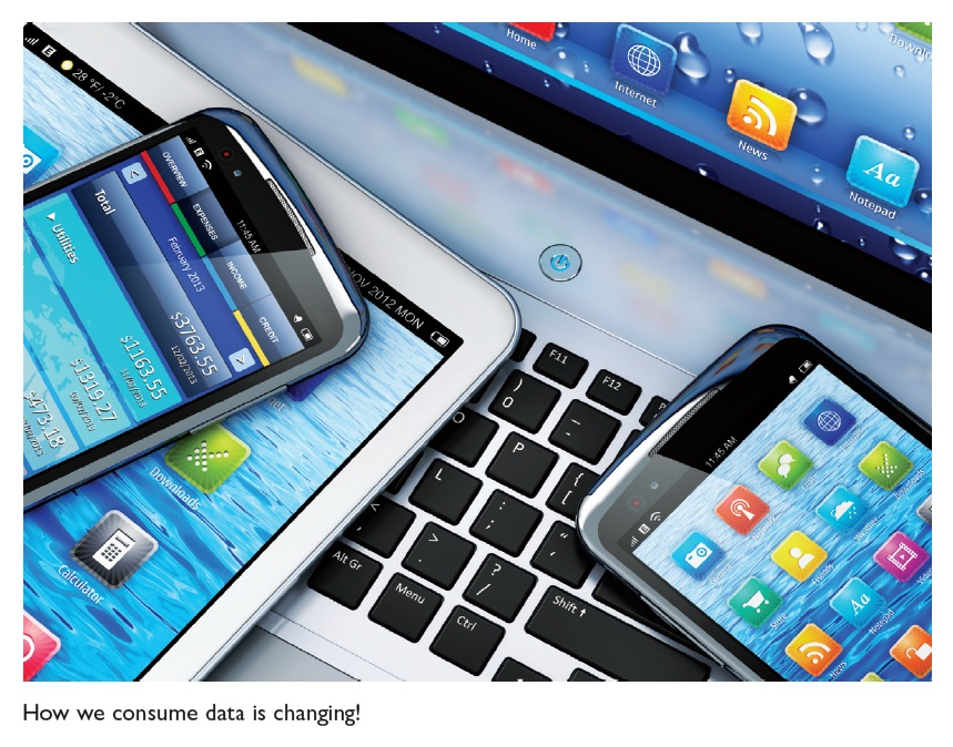 Figure 3 How we consume data is changing, technology and different devices illustration