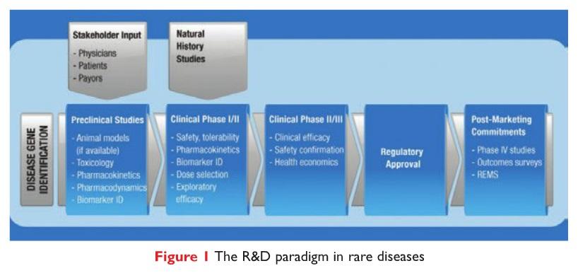 Figure 1 The R&D paradigm in rare diseases