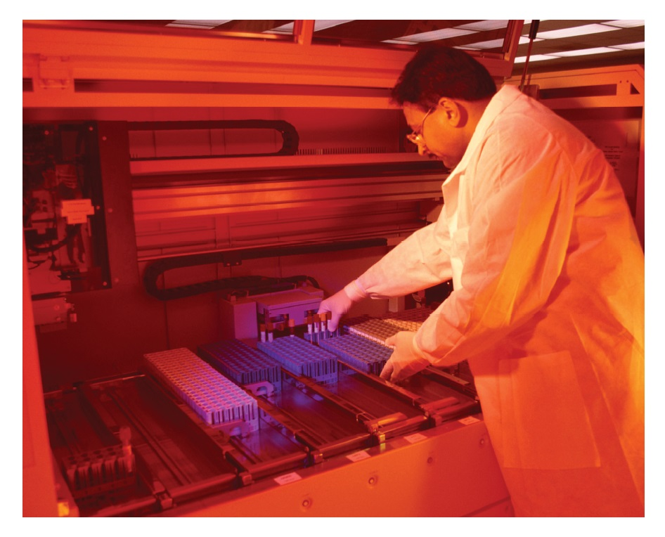 Image 3 Restructuring proteomics to enable personalised cancer care, scientist working in the lab with samples