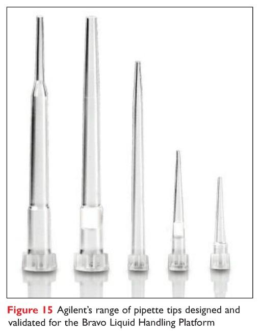 Figure 15 Agilent's range of pipette tips designed and validated for the Bravo Liquid Handling Platform