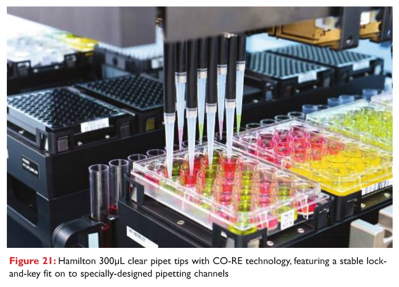 Figure 21 Hamilton 300uL clear pipet tips with CO-RE technology