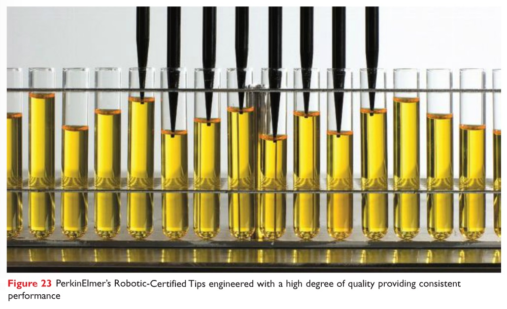 Figure 23 PerkinElmer's Robotic-Certified Tips engineered with a high degree of quality providing consistent performance