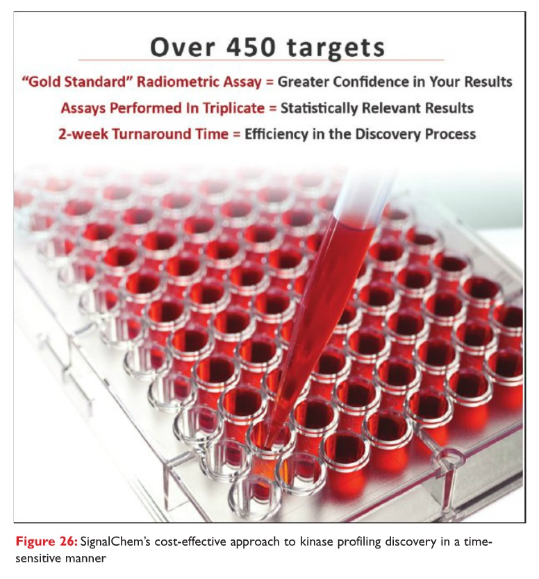 Figure 26 SignalChem's cost-effective approach to kinase profiling discovery