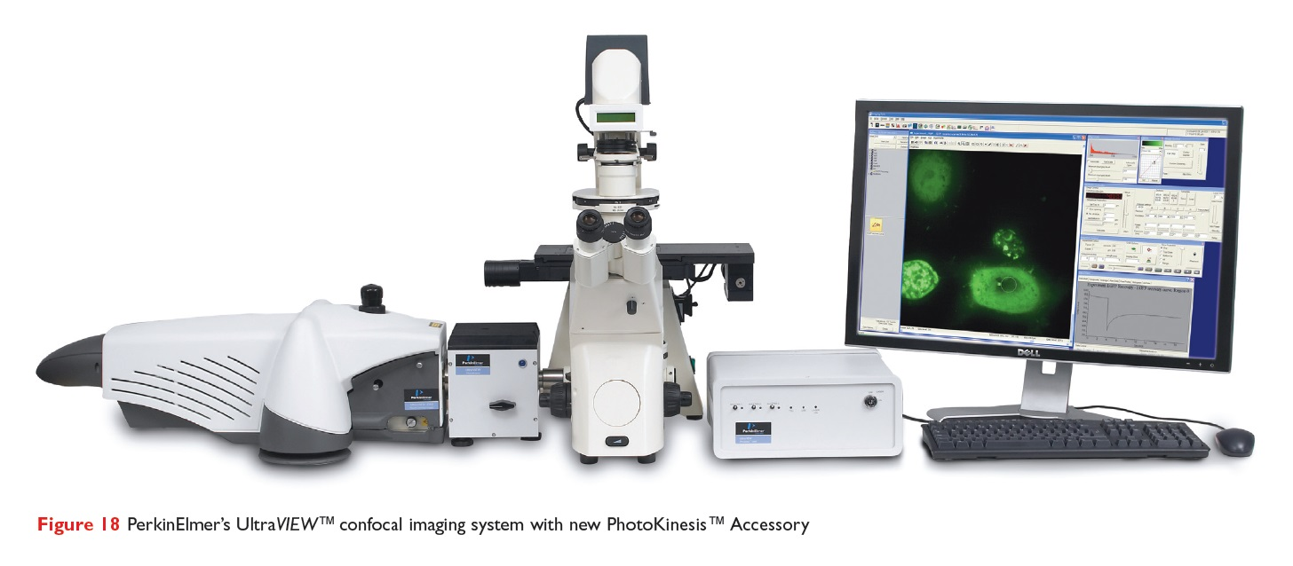 Figure 18 PerkinElmer's UltraVIEW confocal imaging system with new PhotoKinesis Accessory