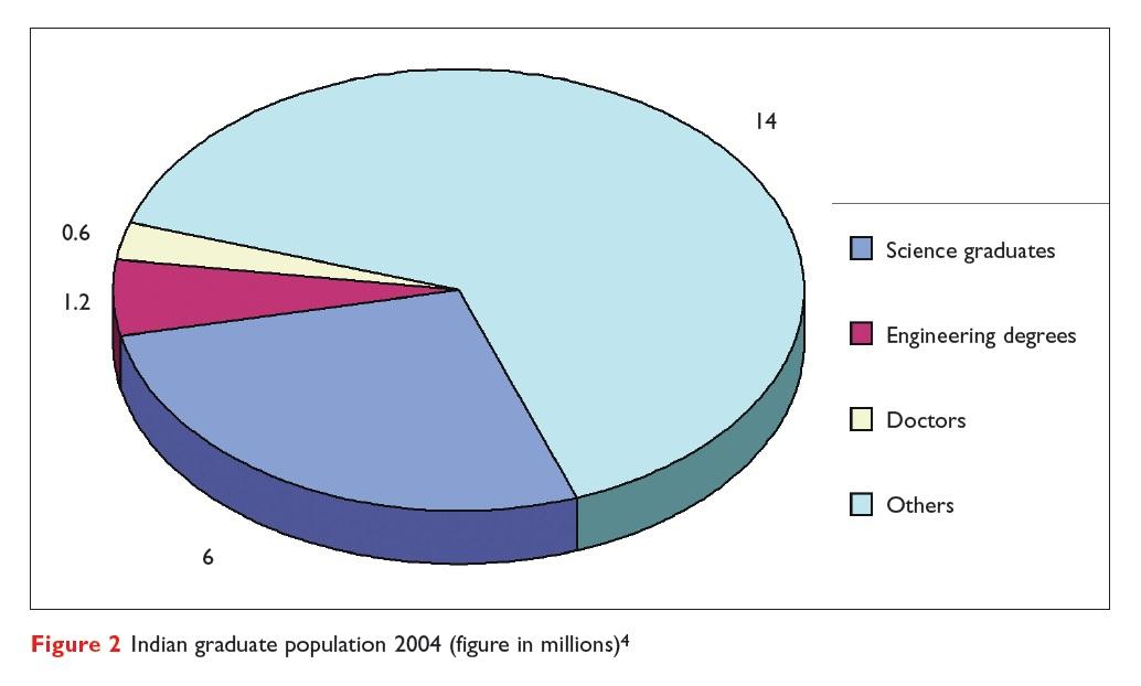Figure 2 Indian graduate population 2004