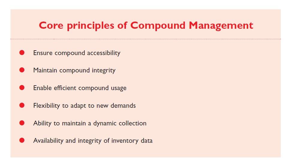 Excerpt 1 Core principles of compound management