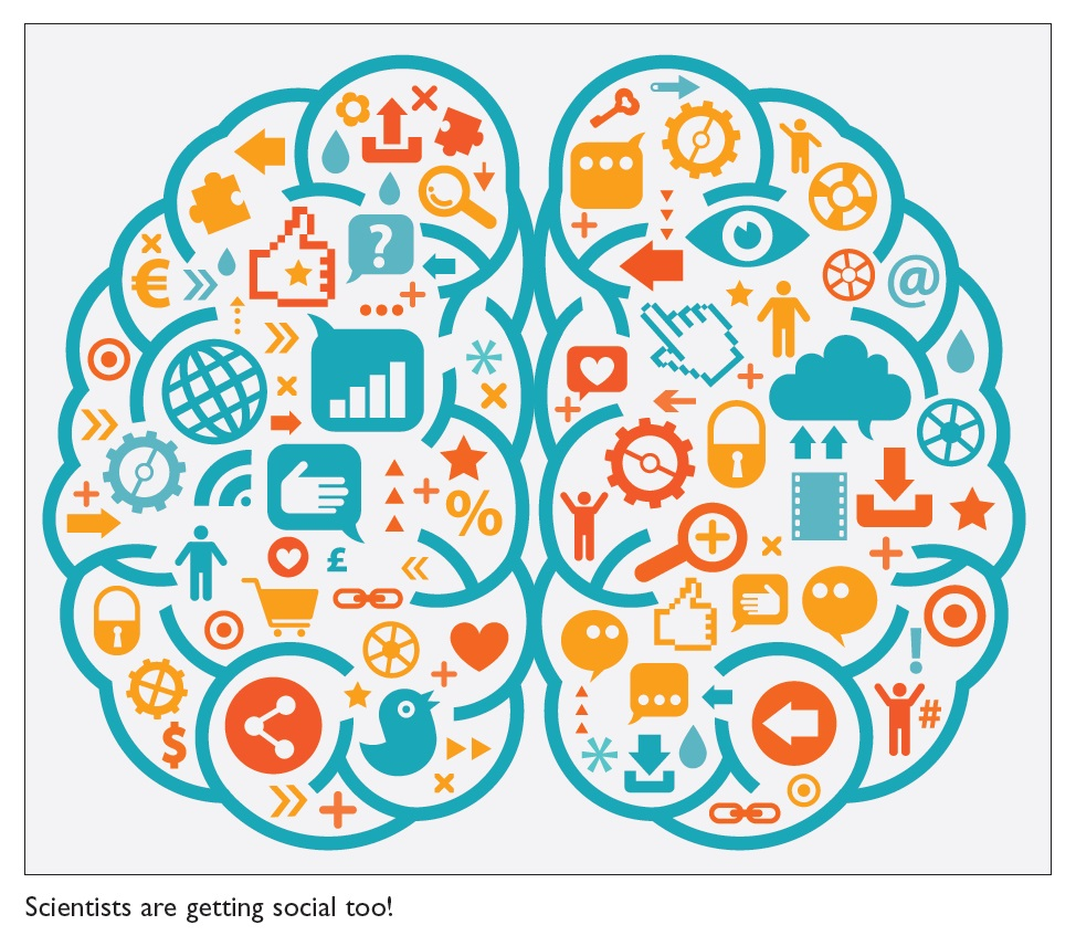 Figure 2 Informatics Brain infographic, scientists are getting social too