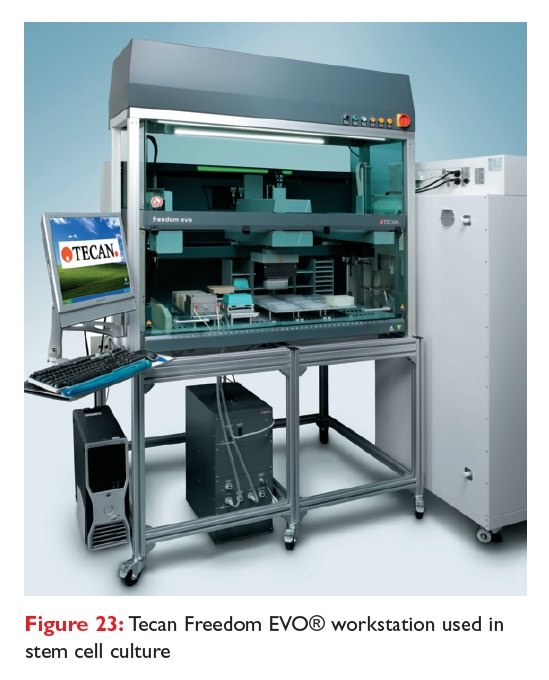Figure 23 Tecan Freedom EVO workstation used in stem cell culture