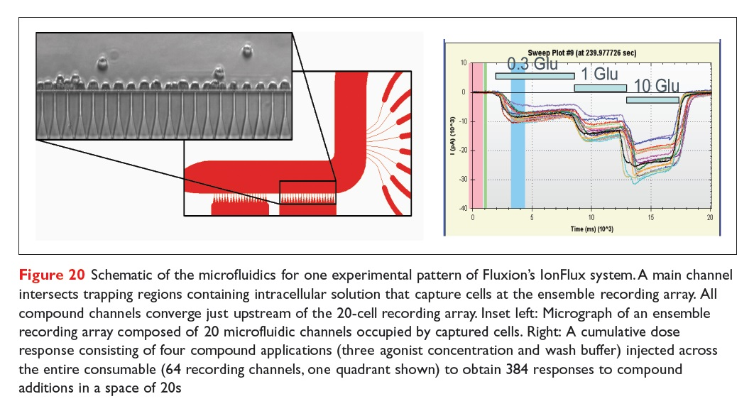 Figure 20 Schematic of the microfluidics for one experimental pattern of Fluxion's IonFlux system