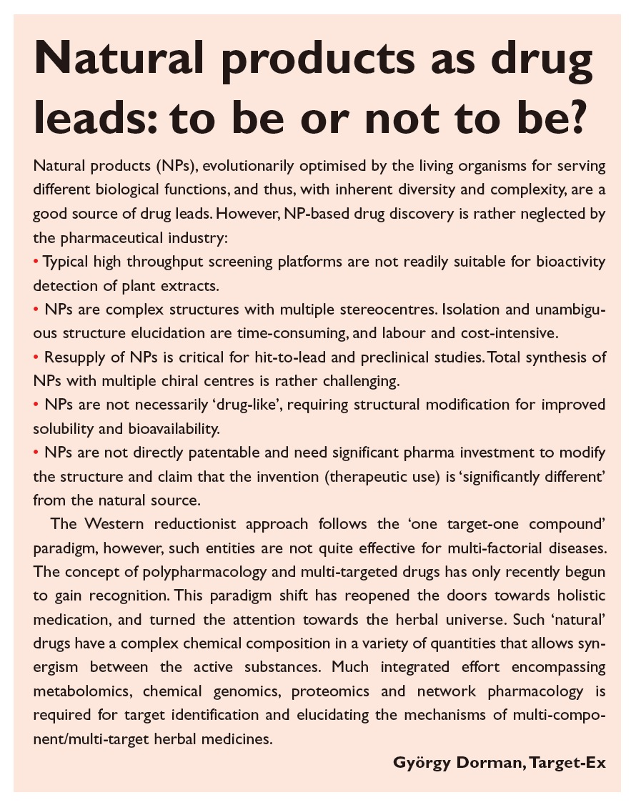 Figure 4 Natural products as drug leads text excerpt