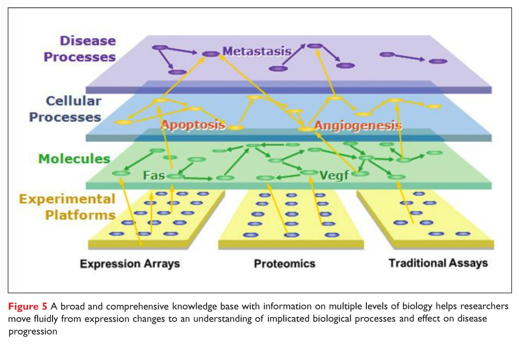 Figure 5 A broad and comprehensive knowledge base with information on multiple levels of biology helps researchers