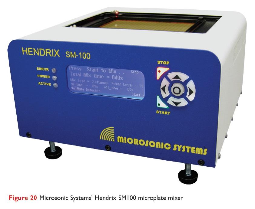 Figure 20 Microsonic Systems' Hendrix SM100 microplate mixer