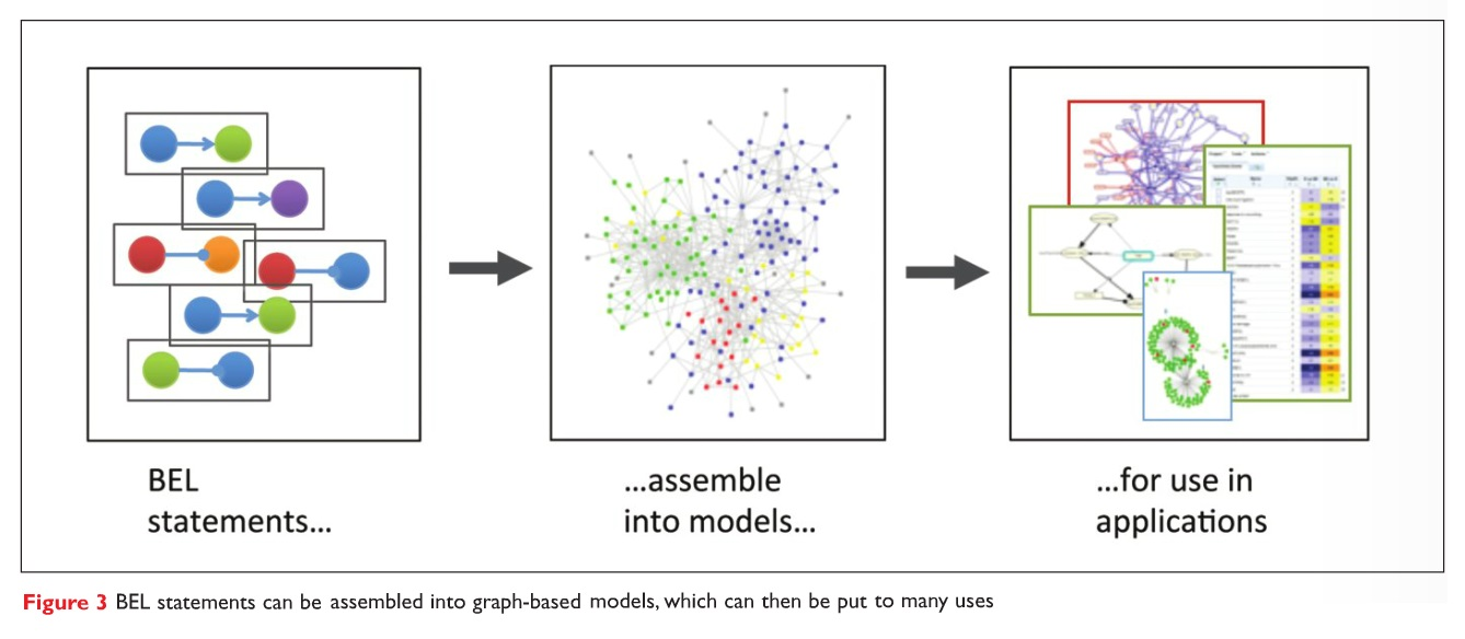 Figure 3 BEL statements can be assembled into graph-based models