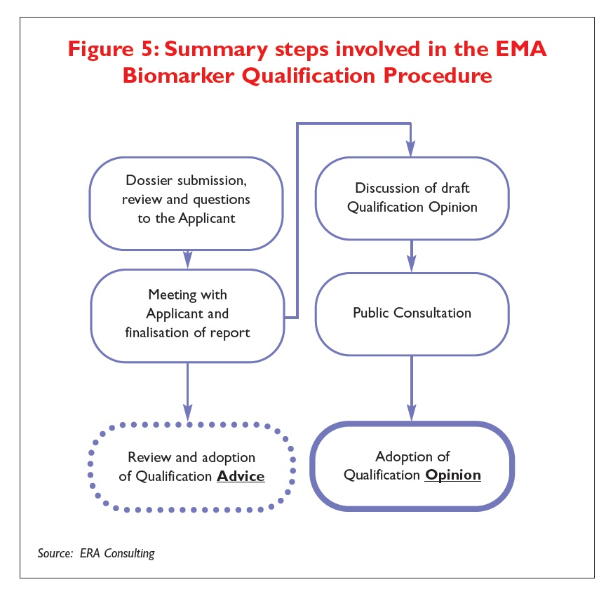 Figure 5 Summary steps involved in the EMA Biomarker Qualification Procedure