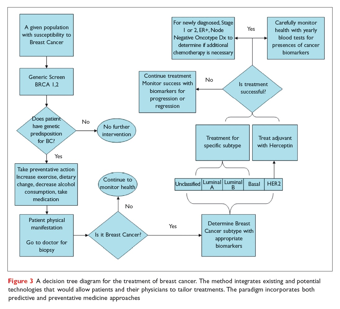 Figure 3 A decision tree diagram for the treatment of breast cancer