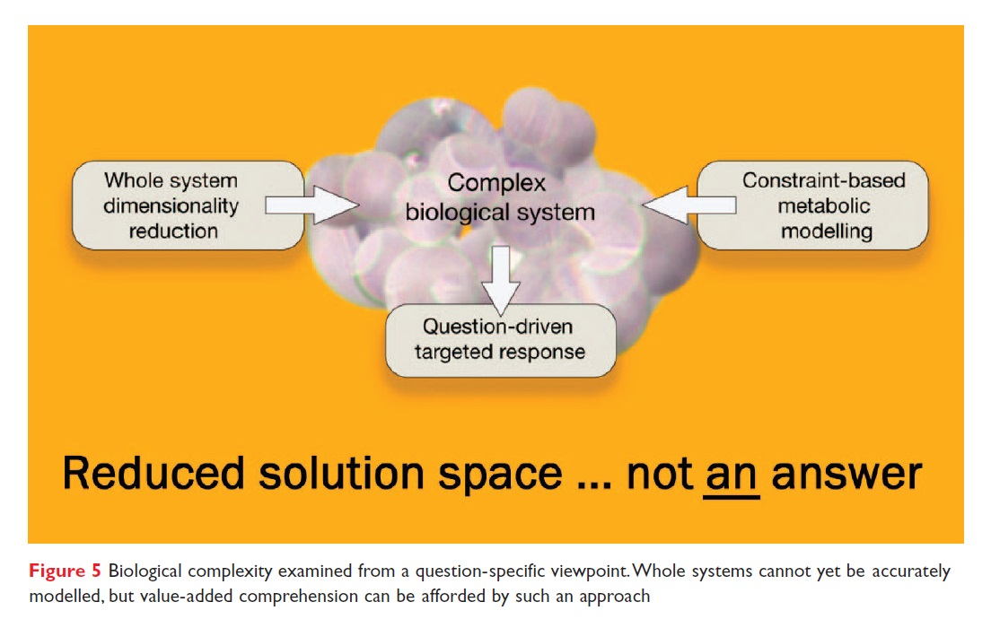 Figure 5 Biological complexity examined from a question-specific viewpoint
