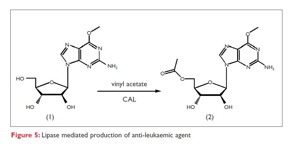 Figure 5 Lipase mediated production of anti-leukaemic agent