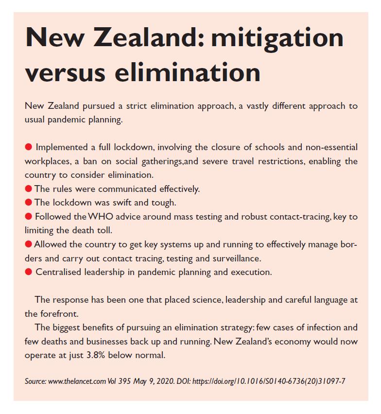 Excerpt 2 New Zealand: mitigation versus elimination