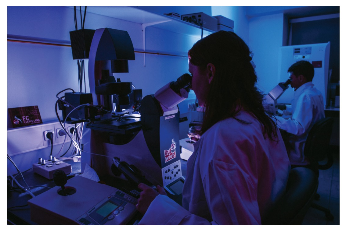 Image 4 Precision research drug discovery scientists looking through microscope