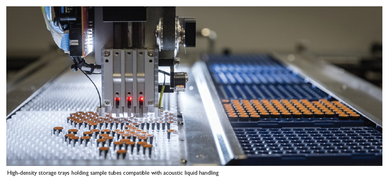 Image 2 High-density storage trays holding sample tubes compatible with acoustic liquid handling