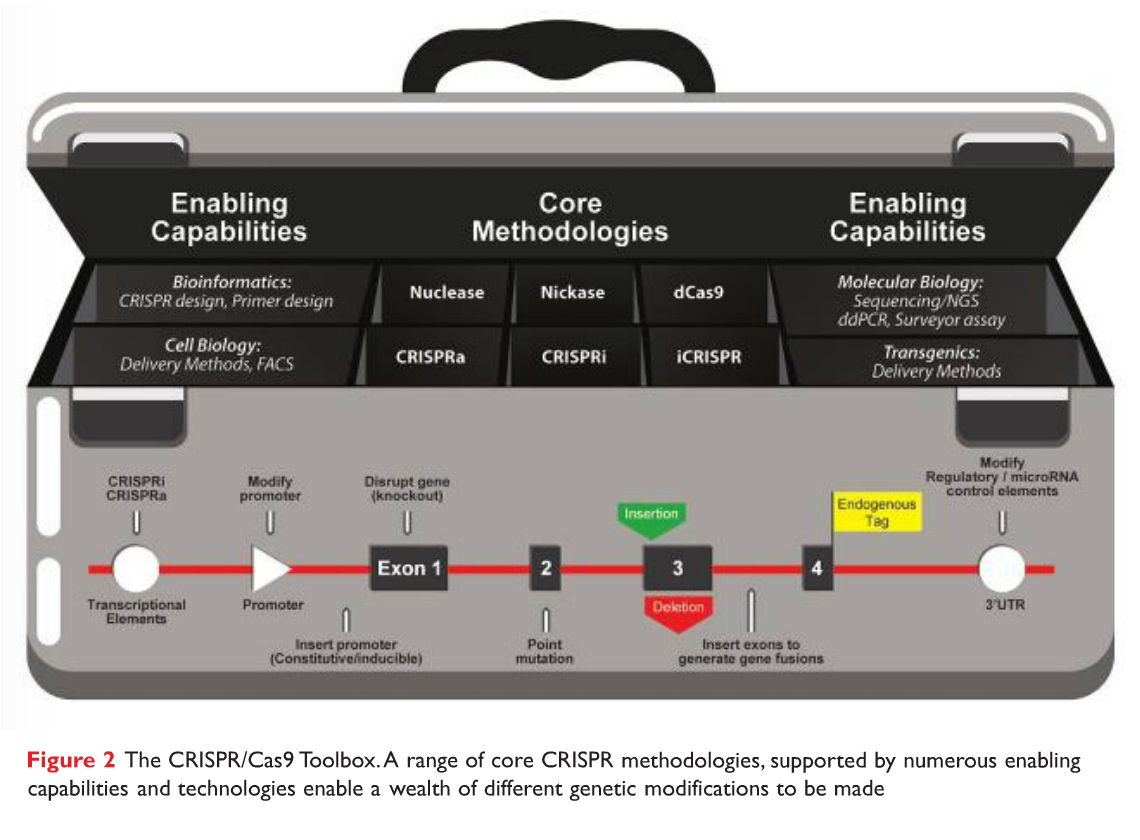 Figure 2 The CRISPIR/Cas9 Toolbox