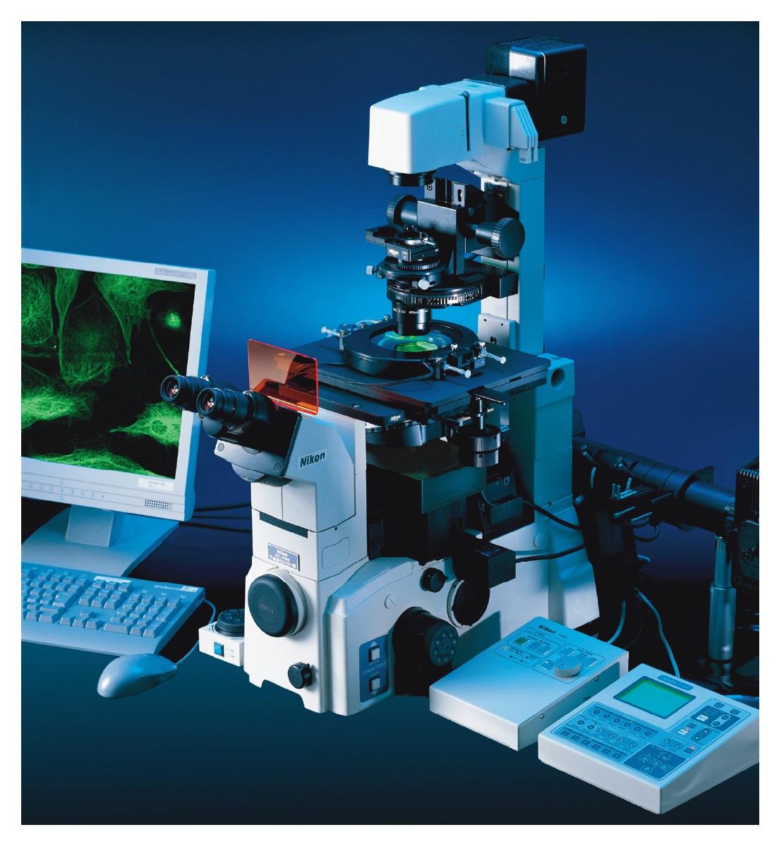Figure 2 Nikon Microscope in the lab, digital imaging example