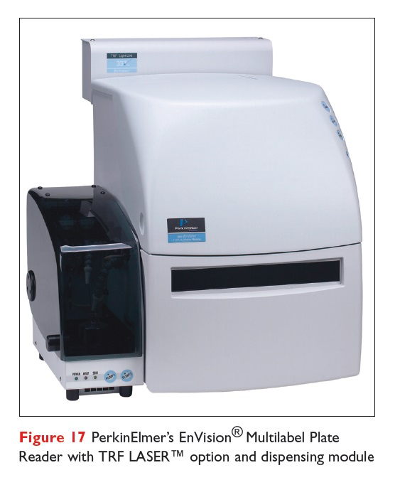 Figure 17 PerkinElmer's EnVision Multilabel Plate Reader with TRF LASER option and dispensing module