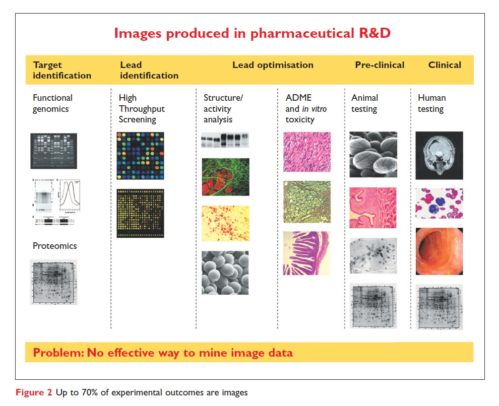 Figure 2 Up to 70% of experimental outcomes are images