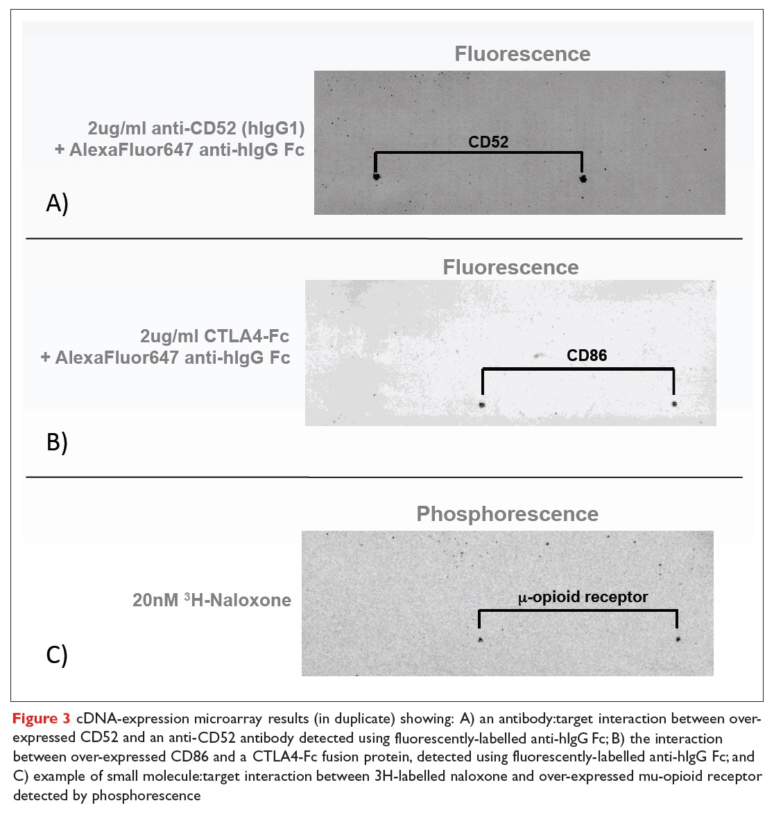 Figure 3 cDNA-expression microarray results