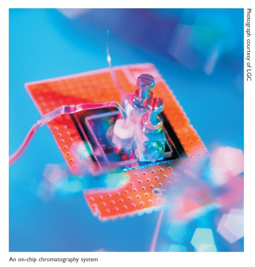 Image 2 A on-chip chromatography system