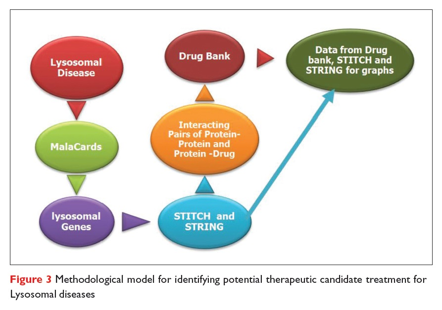 Figure 3 Methodological model for identifying potential therapeutic candidate treatment for Lysosomal diseases