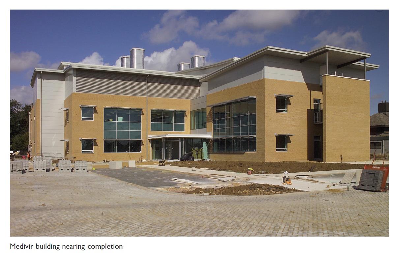 Image 1 Medivir building nearing completion
