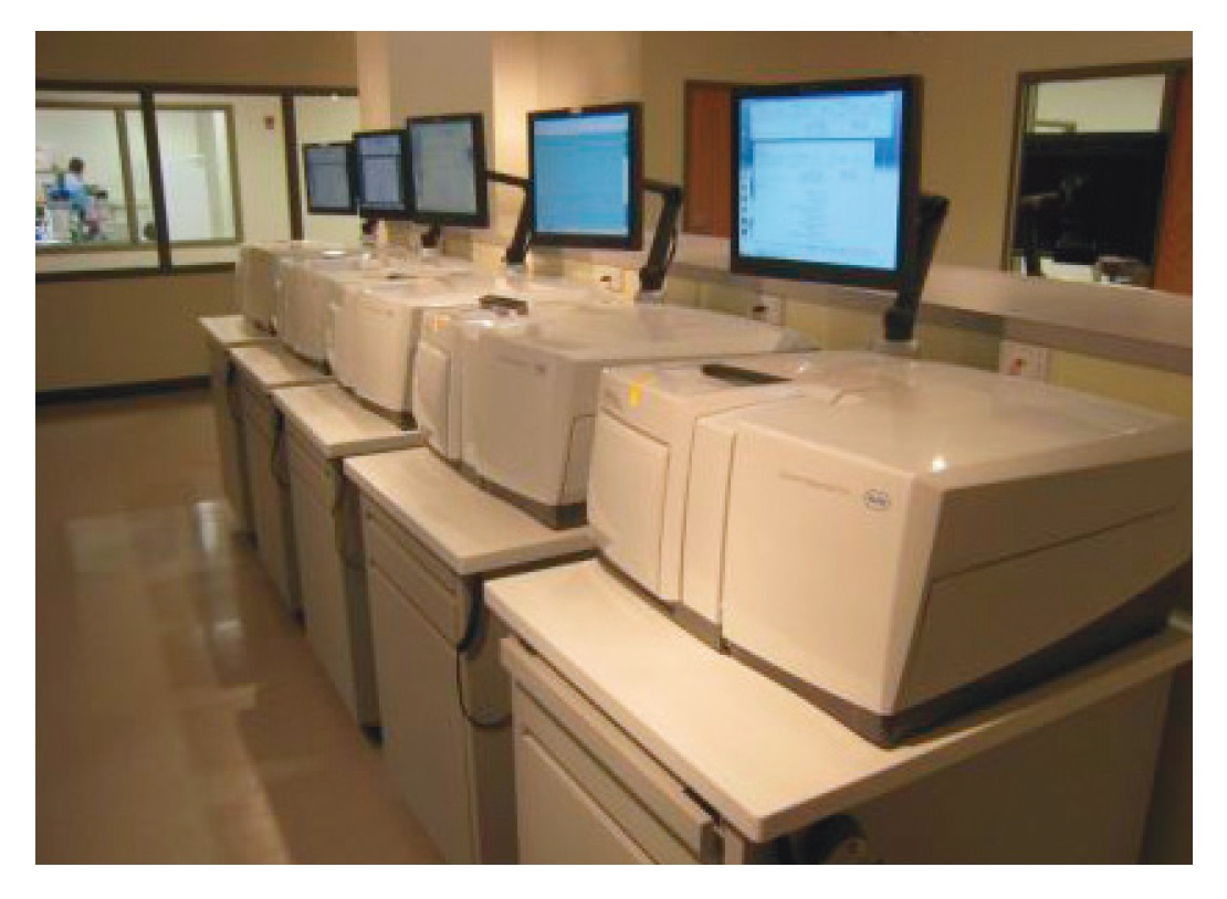 Figure 2 Next Generation DNA Sequencing technologies equipment in the lab image