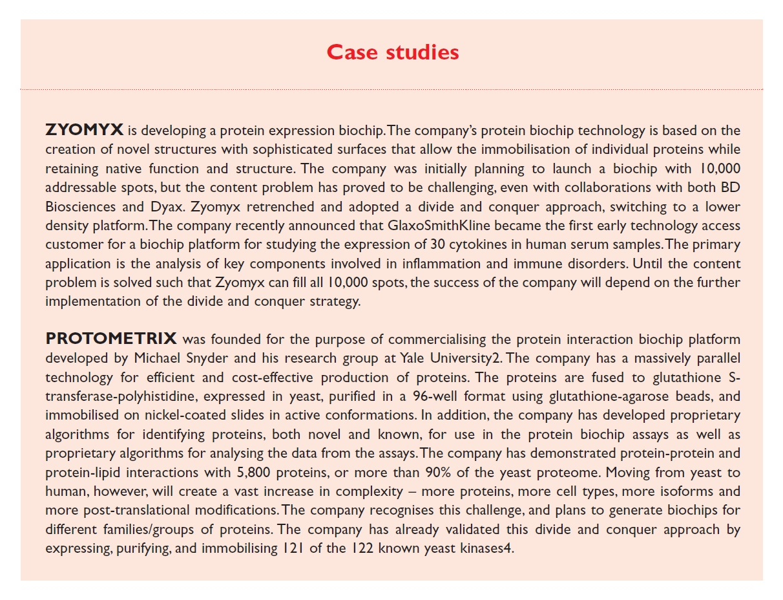 Case Study 1 Zyomyx and Protometrix
