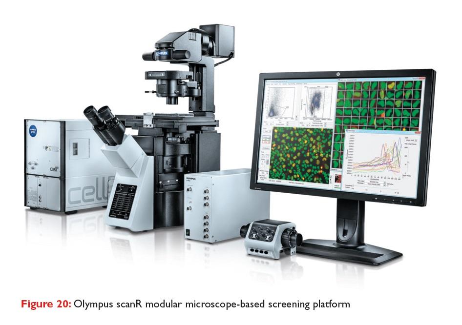 Figure 20 Olympus scanR modular microscope-based screening platform