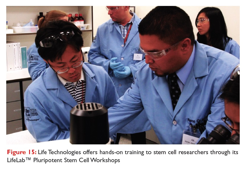 Figure 15 Life Technologies offers hands-on training to stem cell researchers throguh its LifeLab Pluripotent Stem Cell Workshops