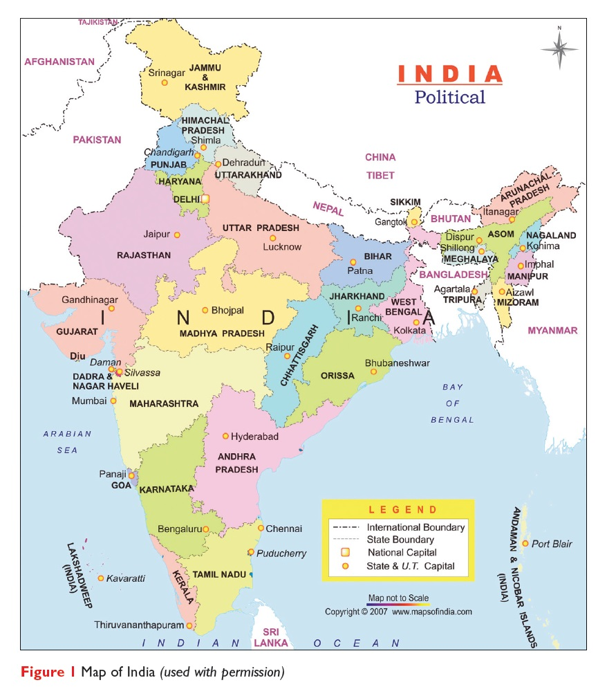 Figure 1 Map of India