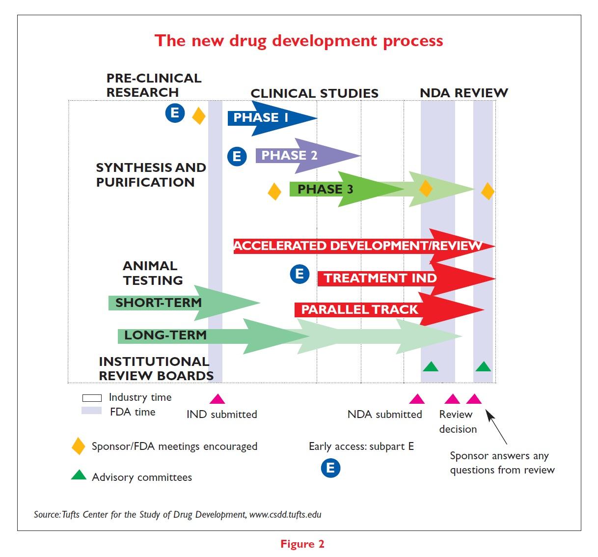 Figure 2 The new drug development process