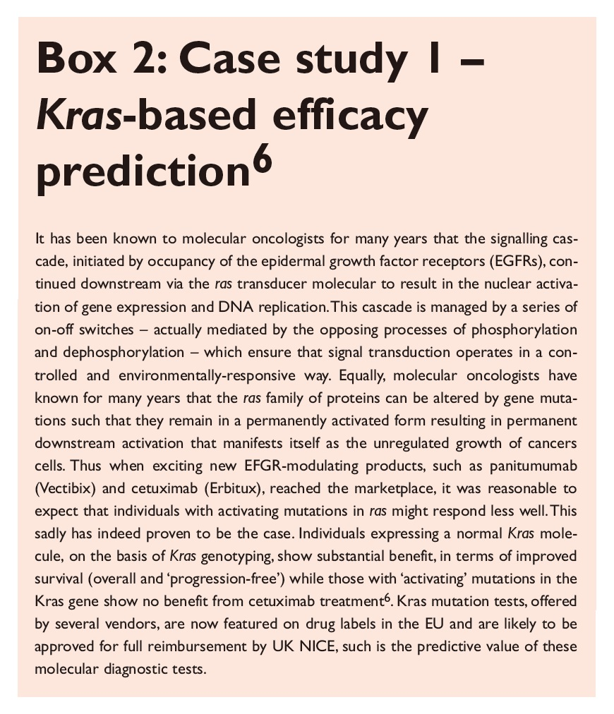 Box 2 Case sudy 1 - Kras-based efficacy prediciton