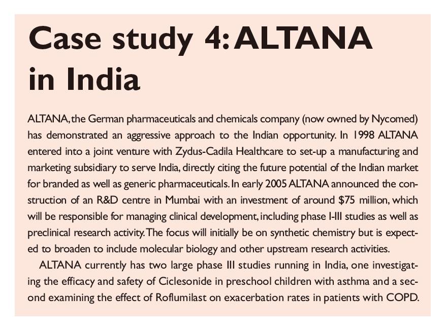 Case Study 4 ALTANA in India