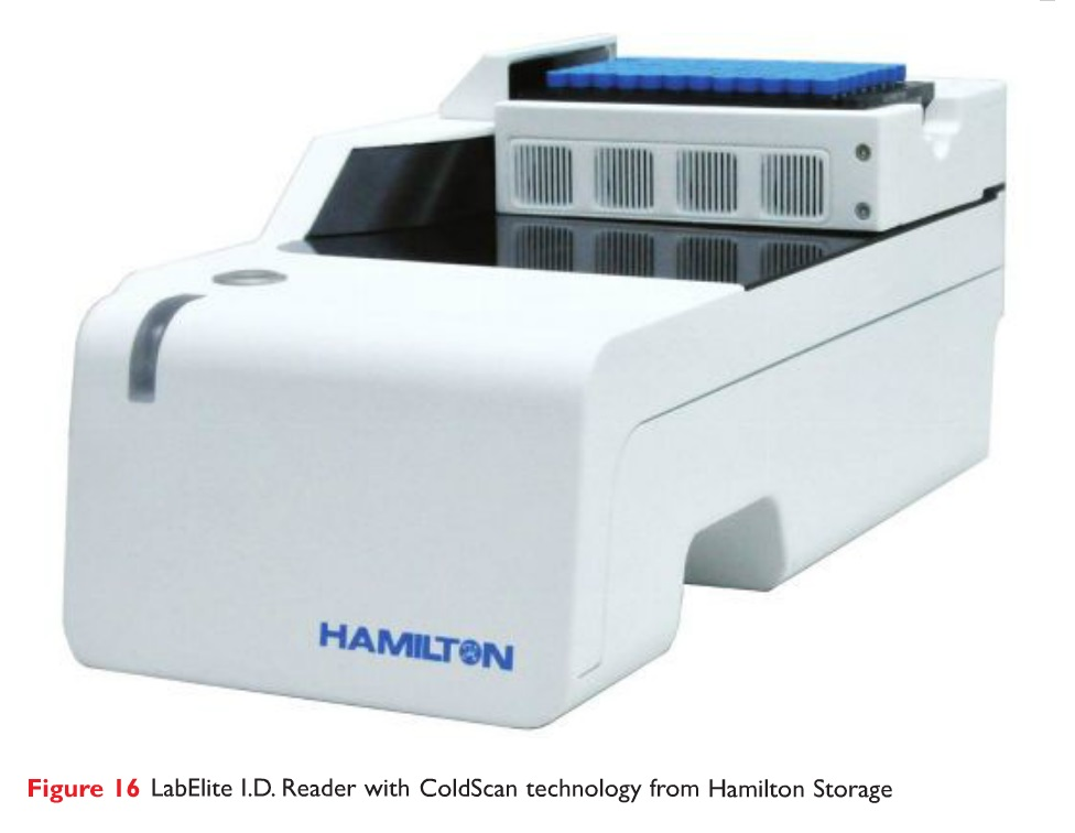 Figure 16 LabElite ID Reader with ColdScan technology from Hamilton Storage