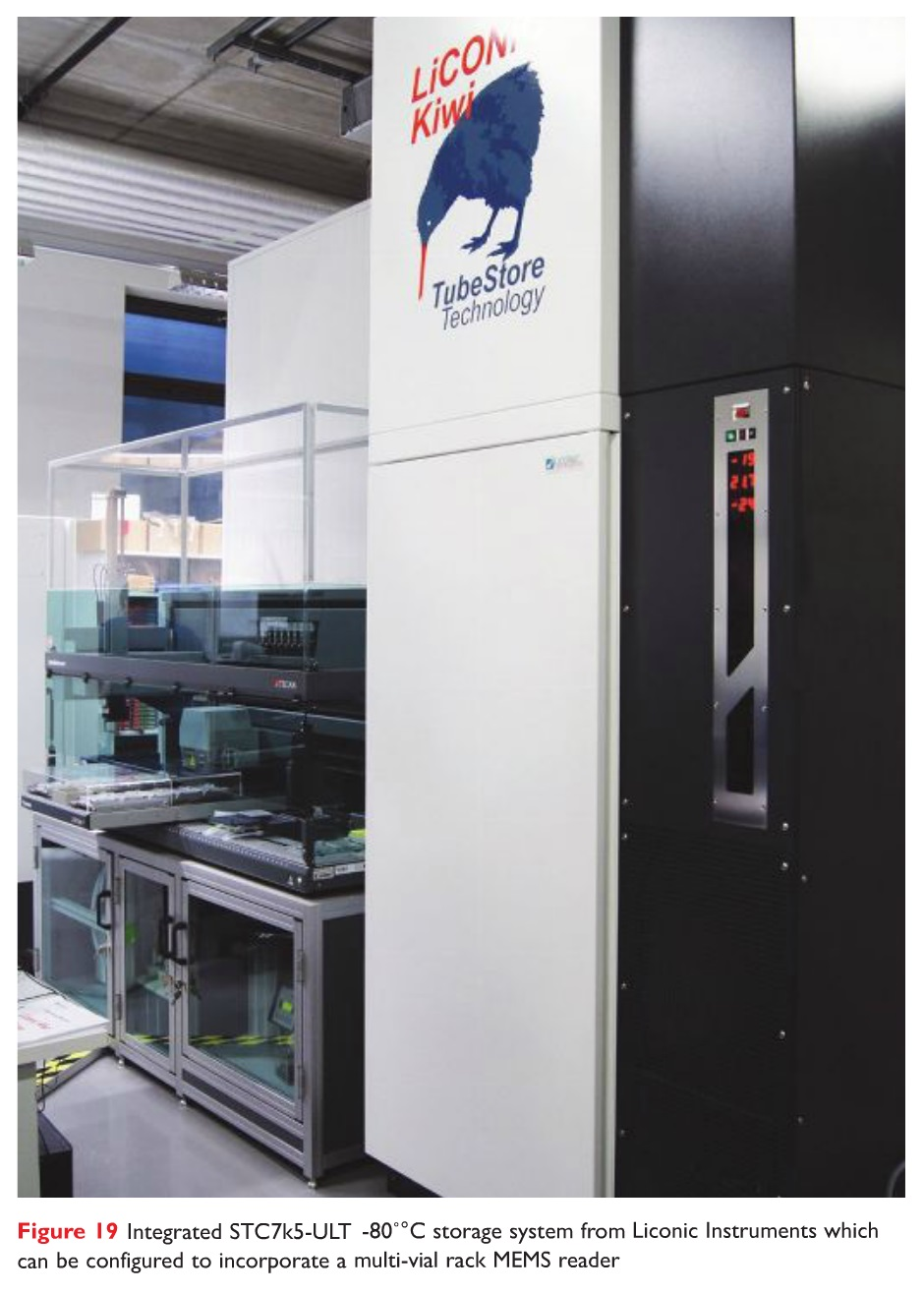 Figure 19 Integrated STC7k5-ULT -80 degrees celcius storage system from Liconic Instruments