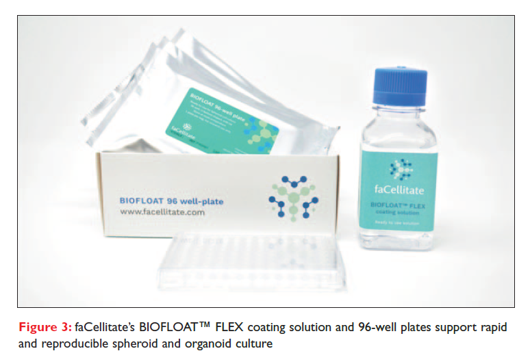 Figure 3 faCellitate's BIOFLOAT FLEX coating solution