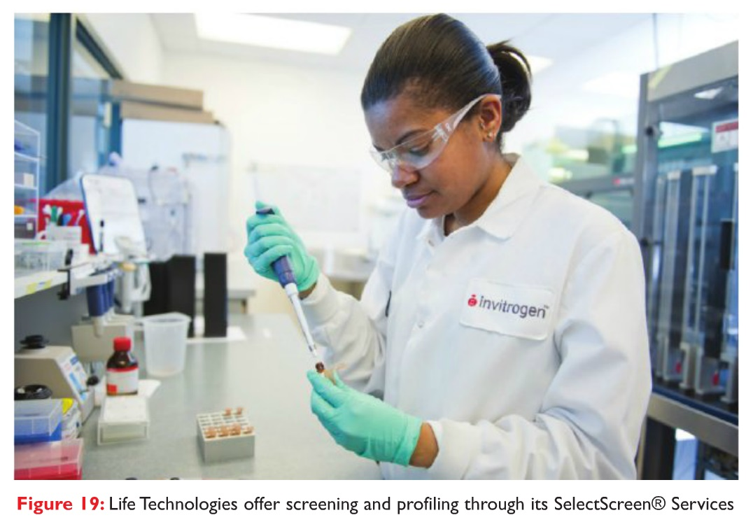 Figure 19 Life Technologies offer screening and profiling through it's SelectScreen Services