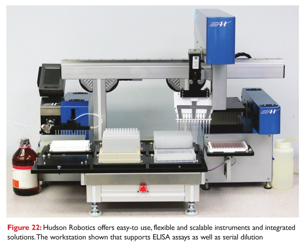 Figure 22 Hudson Robotics workstation that supports ELISA assays as well as serial dilution