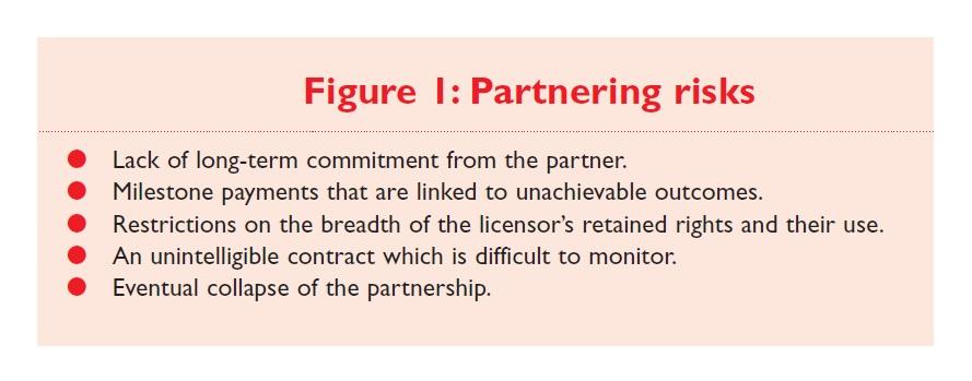 Figure 1 Partnering risks