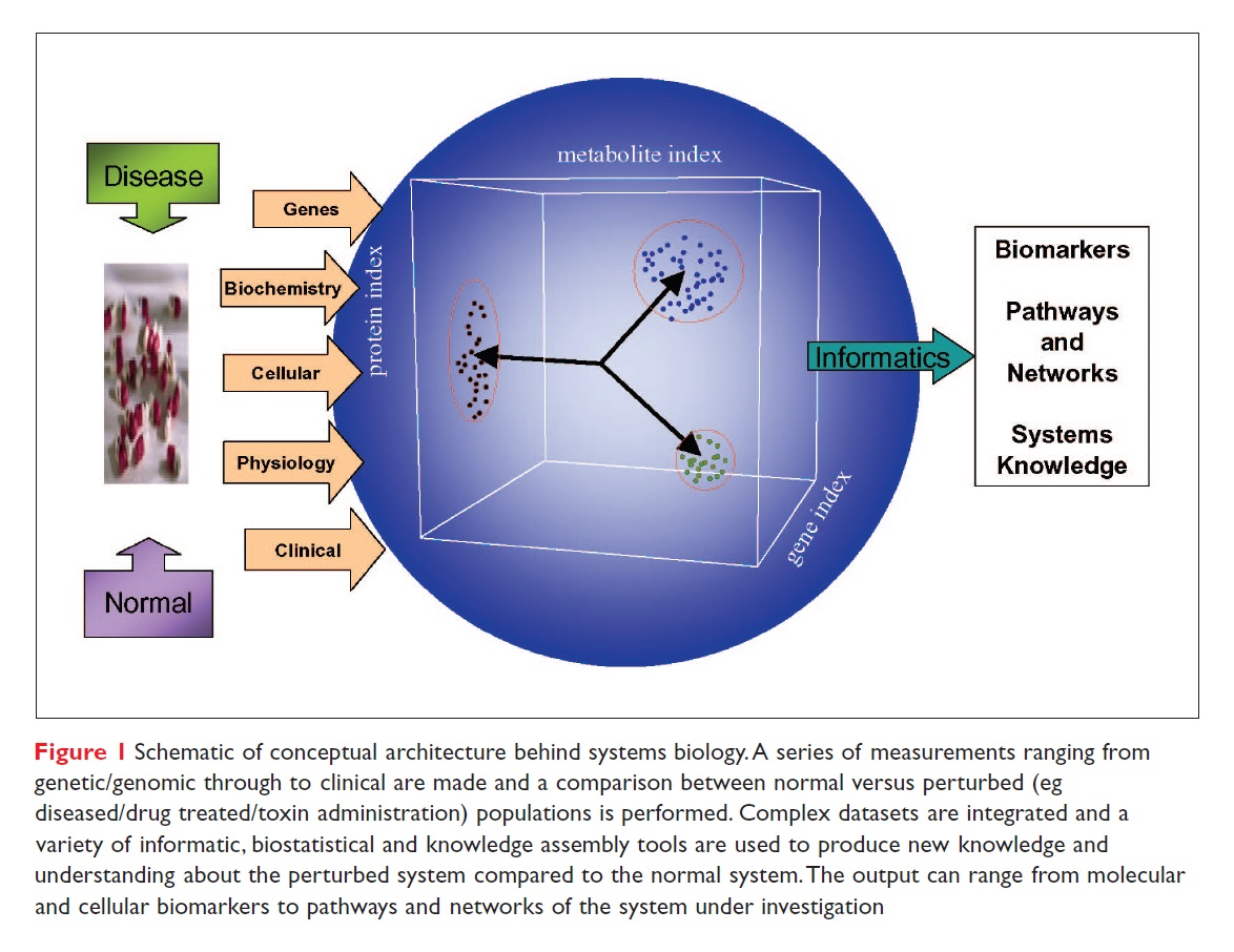 Figure 1 Schematic of conceptual architecture behind systems biology