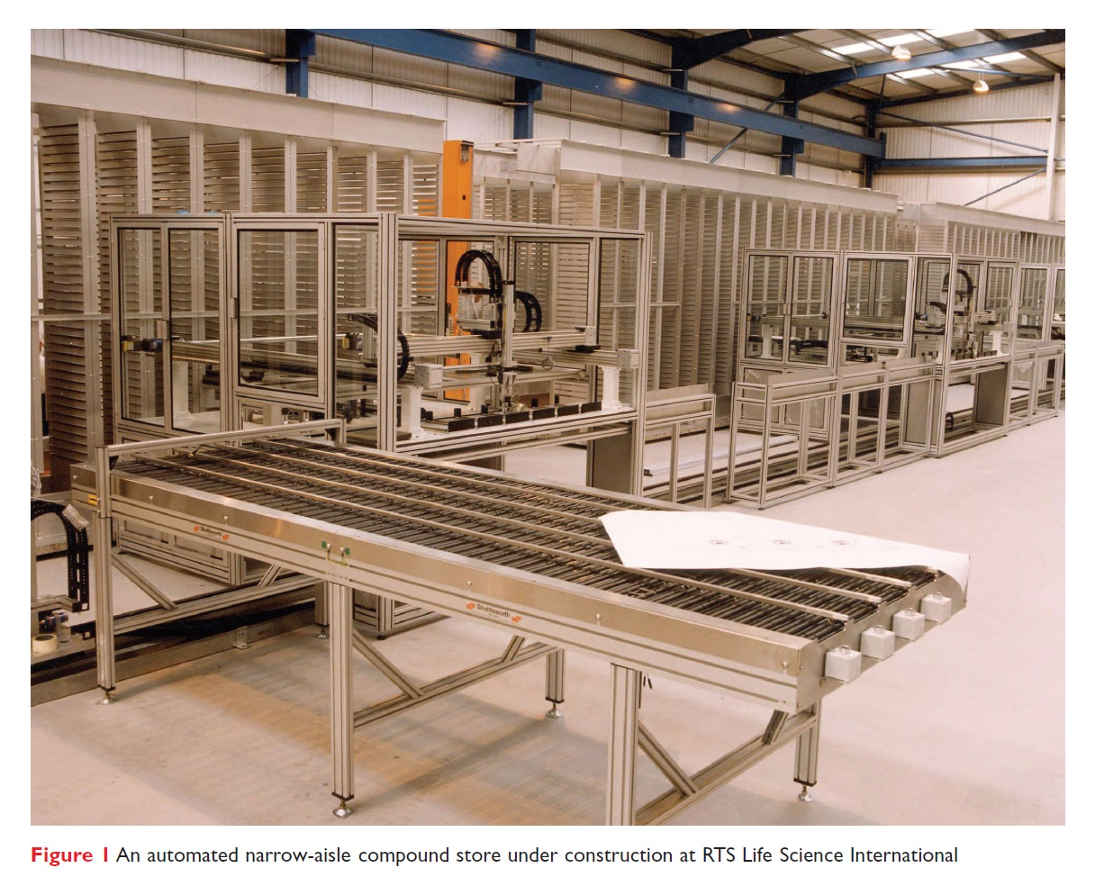 Figure 1 An automated narrow-aisle compound store under construction at RTS Life Science International