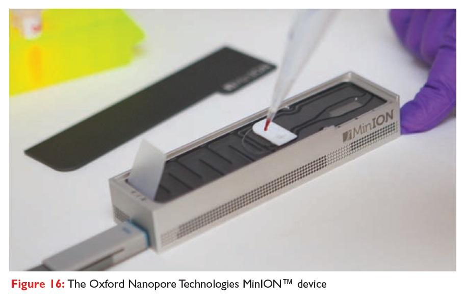 Figure 16 The Oxford Nanopore Technologies MinION device