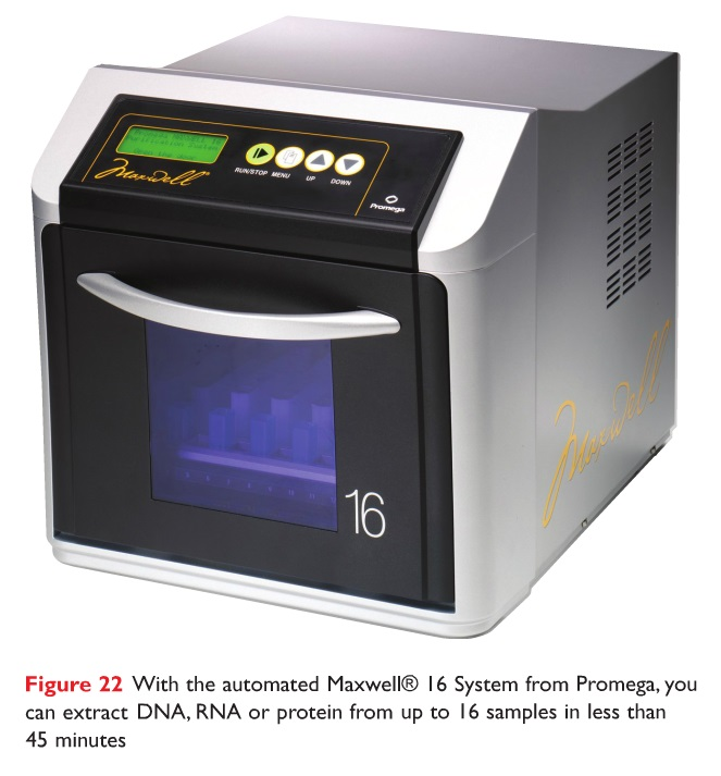 Figure 22 The automated Maxwell 16 System from Promega